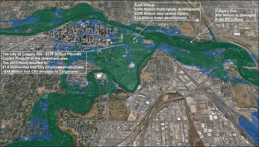 Calgary Flood Map flood map   Protect Calgary Calgary Flood Map