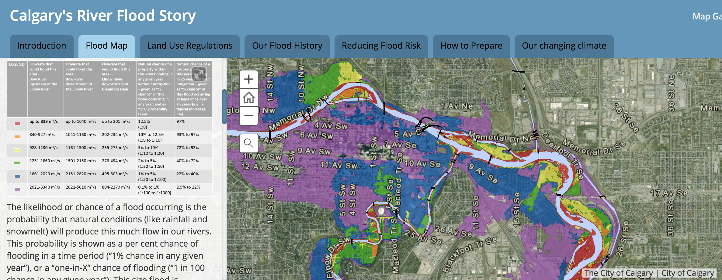 City Of Calgary Interactive Map Interactive maps and flood themed tours introduced for City's 2019